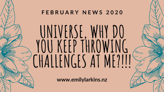Title image for Emily Larkins's February news.