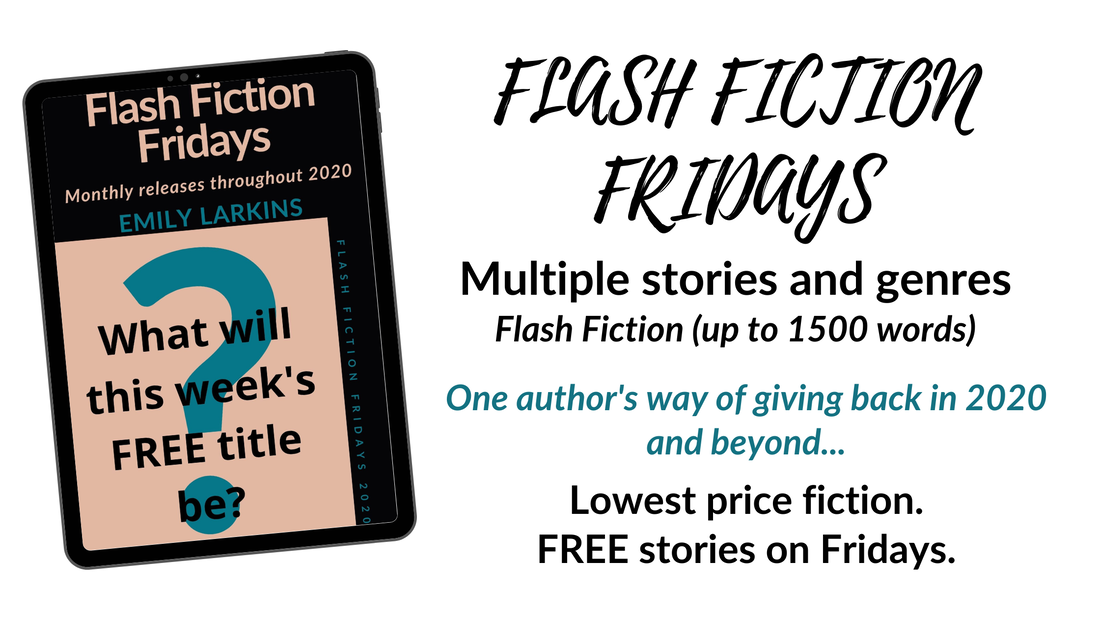 Page header for Flash Fiction Fridays. FREE stories every Friday, various genres.