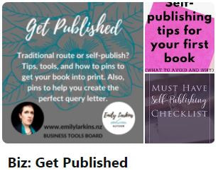 Picture link to Emily's Business Board 'Get Published' on Pinterest