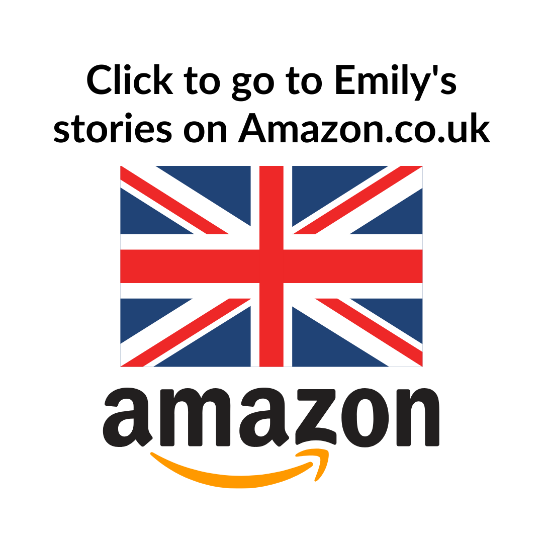 Go to Emily's books via this direct link to Amazon.co.uk. Flag and Amazon logo.