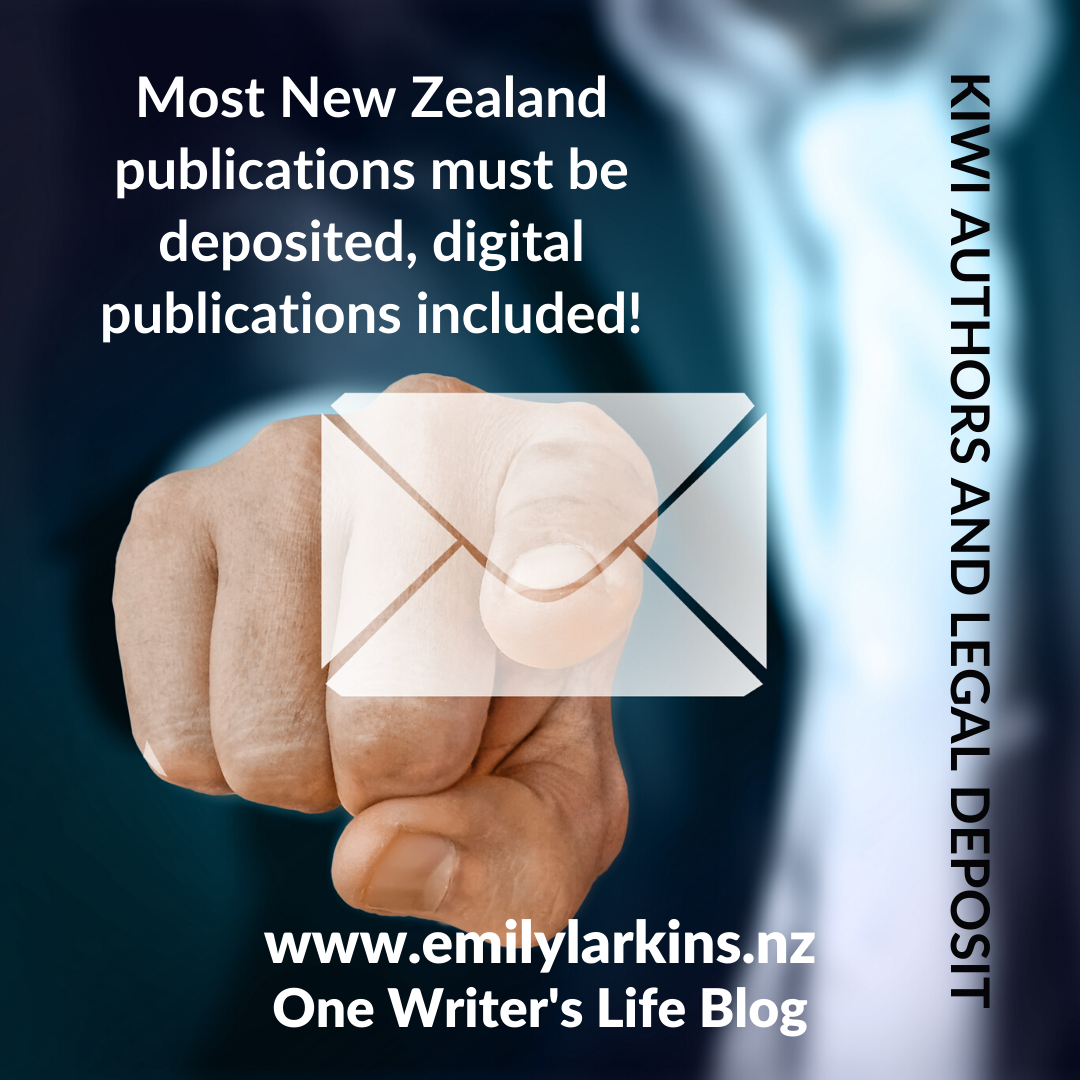 Picture person in suit reaching forward to press envelope icon - most New Zealand publications must be deposited, digital publications included!