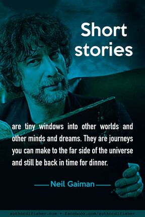 Picture of Neil Gaiman plus his quote:
