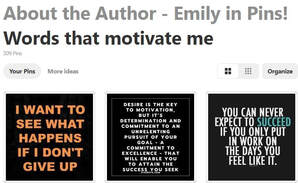 A snapshot of Emily Larkins Author's Pinterest page,