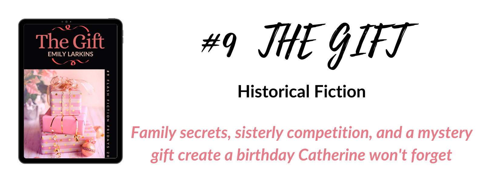 Book nine cover, The Gift, a historical fiction story with a family secret at the heart.