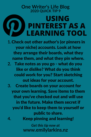 Picture Tips on using Pinterest as a learning tool - a roundup of what is discussed in this post
