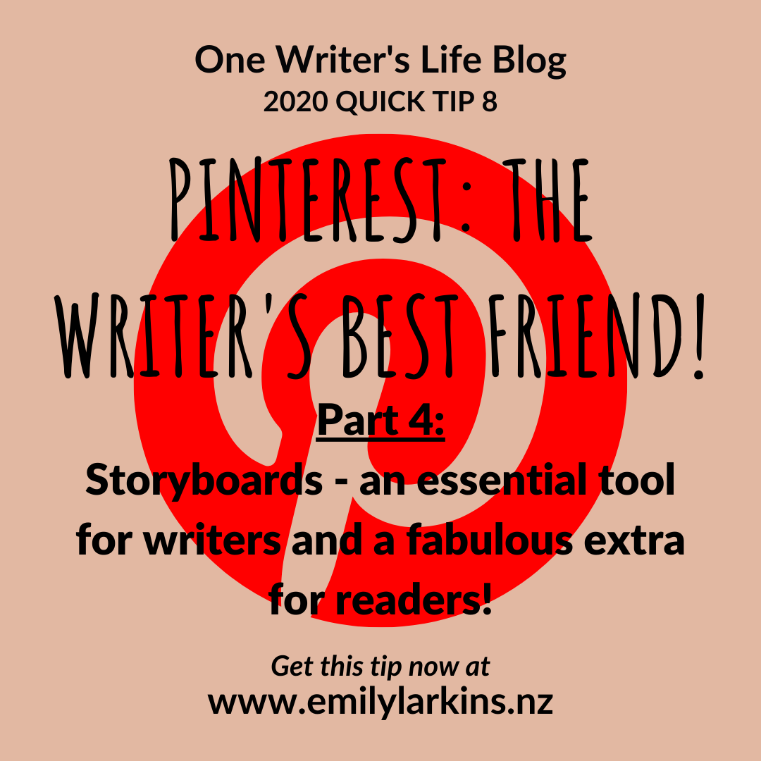 Picture link to part four of the Pinterest series: Planning your story, creating storyboards