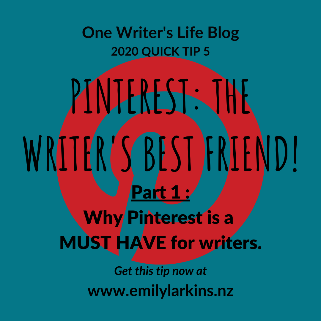 Picture link to Part 1 in Pinterest series: Why Pinterest is a MUST HAVE for writers