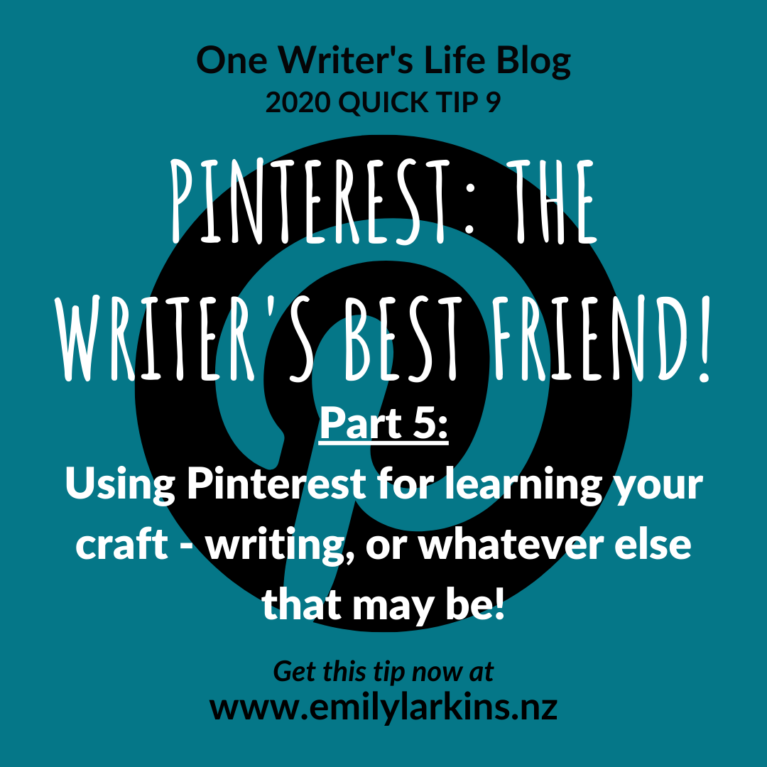 Picture link to Pinterest series Part 5: using Pinterest to learn your craft