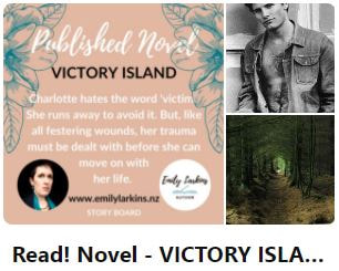 Picture link to Emily's 'Read' board - Victory Island Novel