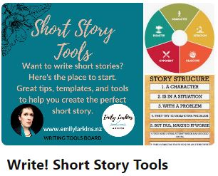 Picture of Emily's Short Story Tools board cover on Pinterest. Click to visit.